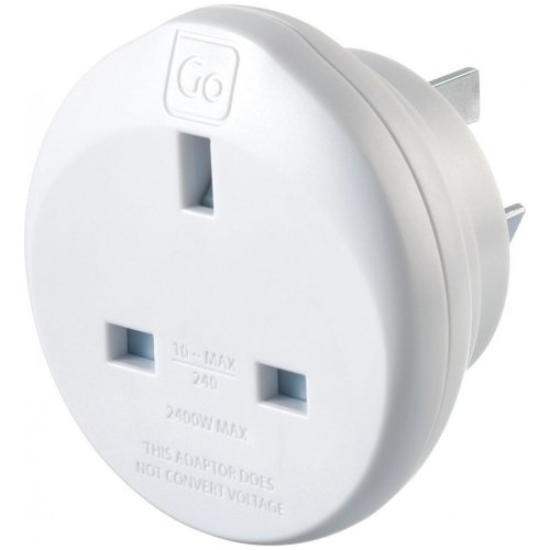 Go Travel UK-AUS Australian and China Compact Earthed Adaptor (Adapter Ref 528)