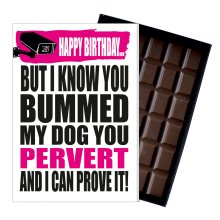 Funny Birthday Gift For Boy Men Rude Present Friend Chocolate Greetings Card