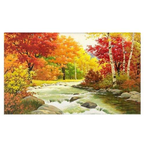 Home Creative 50-Inch TV Cloth Decorative Dustproof Cover, Autumn Trees