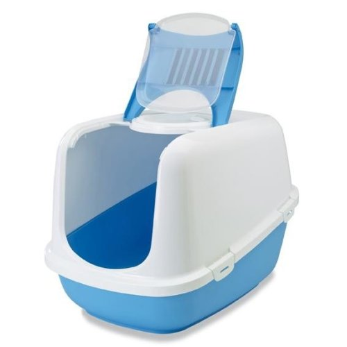 Nestor Jumbo Cat Toilet White/pacific Blue 66.5x48.5x46.5cm (Pack of 3)