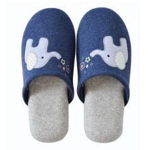 Family Winter Warm & Cozy  Indoor Shoes Couples Cartoon House Slipper, B
