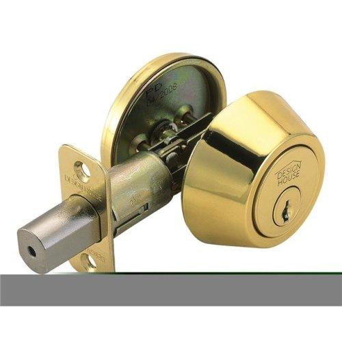 Pro Single Cylinder Deadbolt, Polished Brass