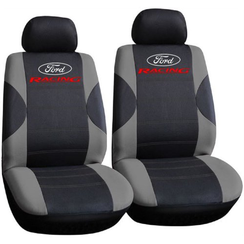 Ford Racing Logo Car Seat Covers, Only Front