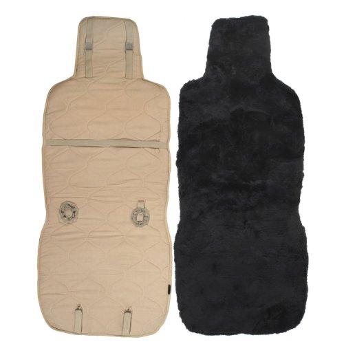 Lambland Genuine Black Sheepskin Car Seat Cover