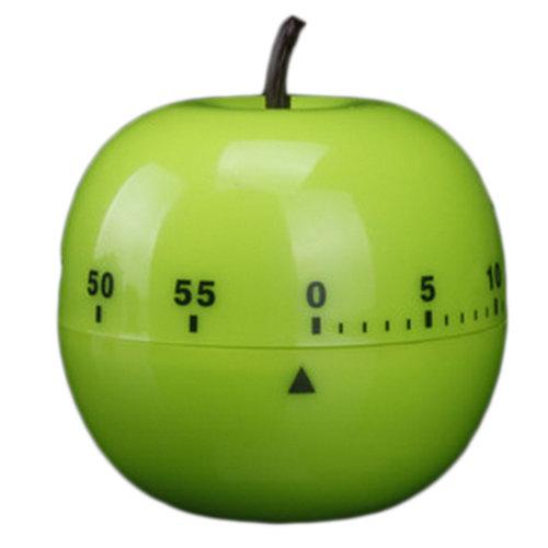 Mechanical Mini Adorable Kitchen Timer, Green Apple