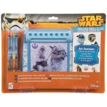 STAR WARS | Deluxe Roll & Go Colouring Set Stationery Desk