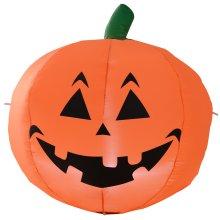 HOMCOM 1.2m Inflatable Pumpkin Halloween Air Blown Yard Holiday Decoration LED Light