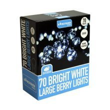 70 Bright White Large Berry String Fairy Lights Indoor Outdoor Christmas Decorations
