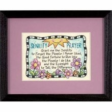 D06945 - Dimensions Stamped X Stitch - Mini -  Senility Prayer
