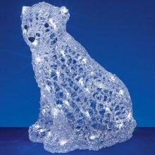 Premier Decorations - 36cm Acrylic Polar Bear Christmas Figure - 48 LEDs