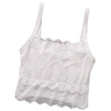 2PCS Women's Lace Camisoles Lingerie Seamless Stretchy Tube Bra Top -A7