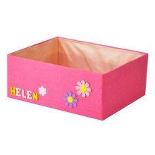Multifunctional Linen Letters Rectangle Sundry Storage Baskets Organizer Box J