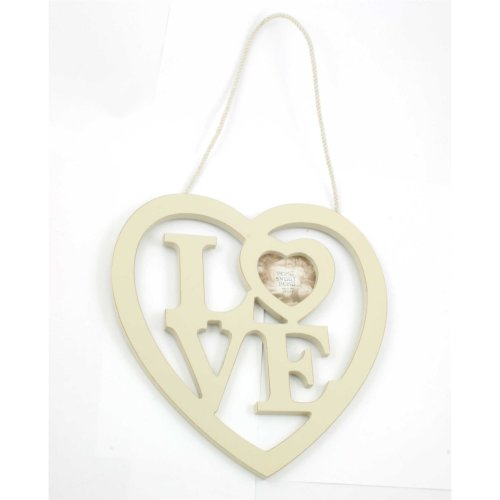 Harvest Chic Love Heart Plaque photo frame