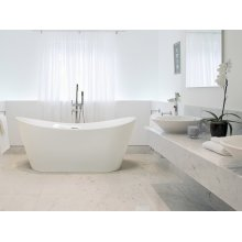 Freestanding Bath - Bathtub - White Acrylic - ANTIGUA