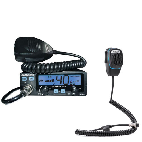 CB Radio  President BARRY + Dual Mike intelligent microphone with 6-pin Bluetoo