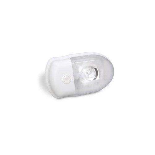 Interior Single Bulk Light with Lens, Clear