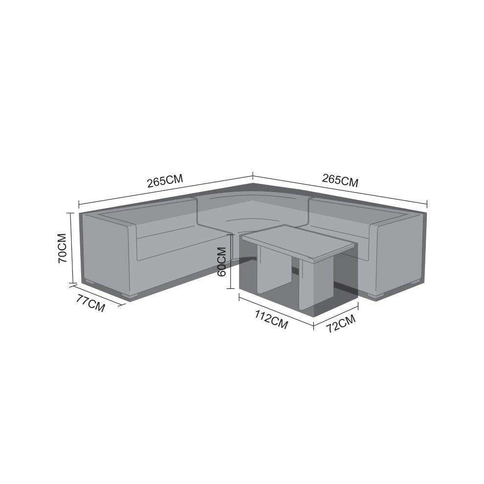 Nova Rounded Corner Sofa Set Table Cover Waterproof Outdoor Garden Furniture Black Pvc Protector