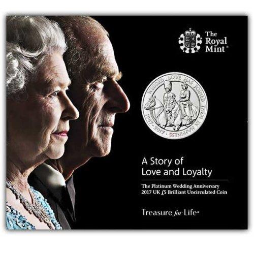 Platinum Wedding 2017 UK £5 Brilliant Uncirculated Coin