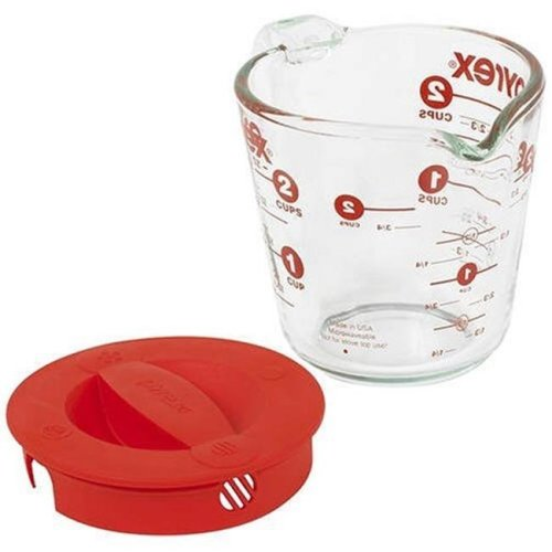 Pyrex 1055163 2-Cup Measuring Cup with Lid