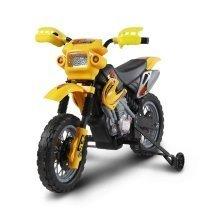 (Yellow) Homcom Kids' Electric 6V Motocross Motorbike