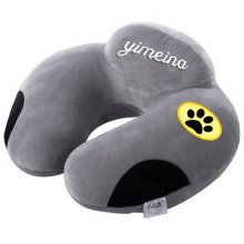 Cartoon Memory Foam Soft Neck & Head Support Travel Pillow with Zipper (Washable pillowcase) , A