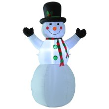 HOMCOM 1.8m Inflatable Snowman 6 LED Lights Christmas Xmas Air Blown Holiday Decoration Outdoor Garden Decor