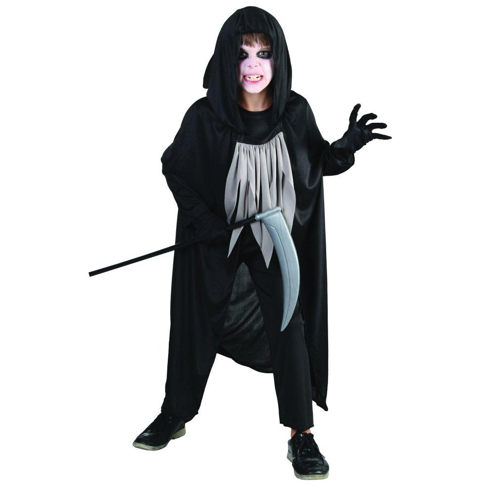large childrens grim reaper costume - reaper fancy halloween dress