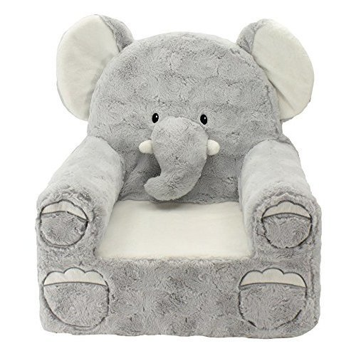 "Sweet Seats Adorable Elephant Childrens Chair Ideal for Children 18 Months and Up, Machine Washable Removable Cover,14""L x 19""W x 20"" H"