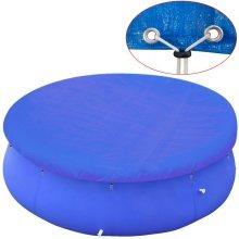 vidaXL Pool Cover PE Round 450 - 457 cm 90 g/sqm