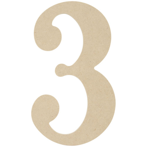 """MDF Classic Font Wood Letters & Numbers 9.5""""-3"""