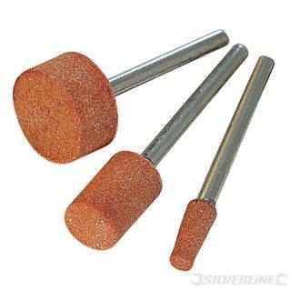 Silverline Rotary Tool Grinding Stone Set 3pce 9, 10 & 15mm Dia -  grinding set tool silverline 10 rotary stone 282582 15mm 9 wheel 3pce circular