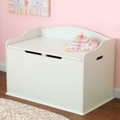 Super New White Wooden Toy Box Storage Children Kids Chest Bench Strong Ocoug Best Dining Table And Chair Ideas Images Ocougorg