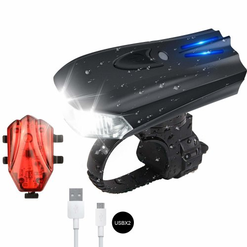 Bike Lights, LED Bike Light Set USB Rechargeable Bike Light for Cycling, 400 High Lumen Front and Rear Bicycle Safety Lights Bright LED Headlight...