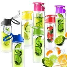 Fruit Infusing Water Bottle with Fruit Infuser and Flip Lid | 7 colours | by WIMPORTS