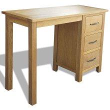vidaXL Desk with 3 Drawers Oak 106x40x75 cm
