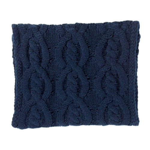 Premium Warm Knit Scarf Infinity Knitted Scarves Neck Scarfs Wrap, Deep Blue