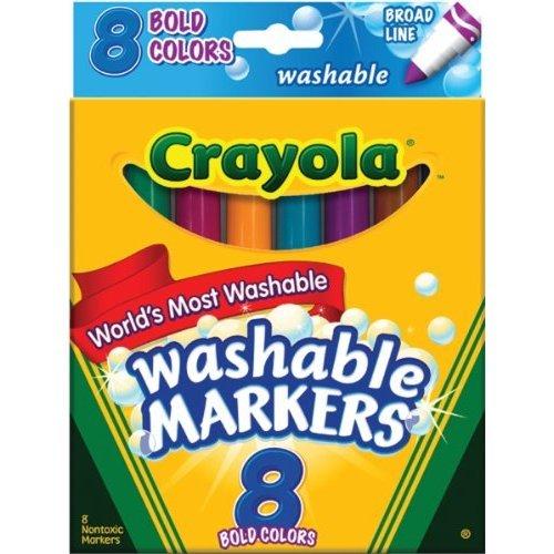 Crayola 8 Ct Bold Broad Line Washable Markers