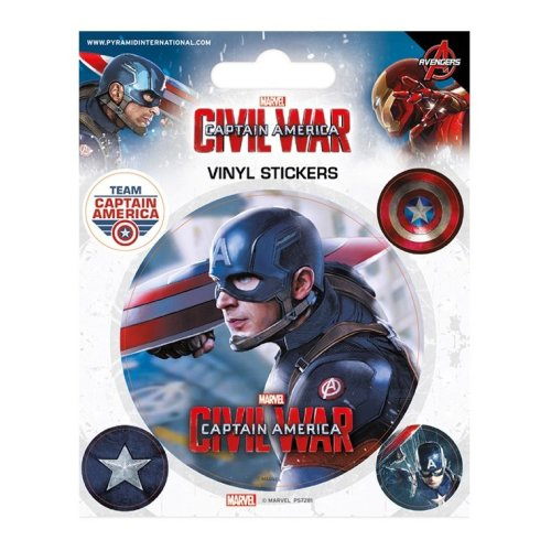 Captain America Civil War Vinyl Sticker Pack - Cap America