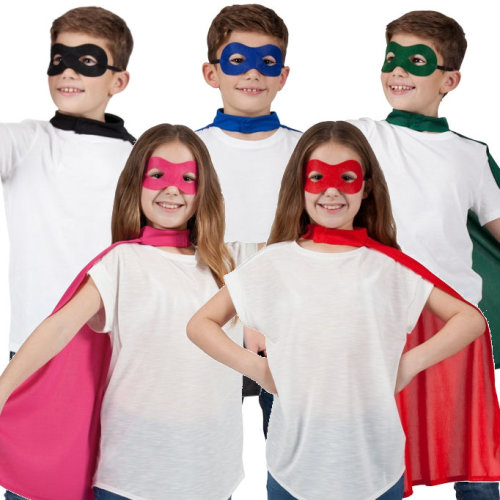Kids Superhero Cape & Eye Mask