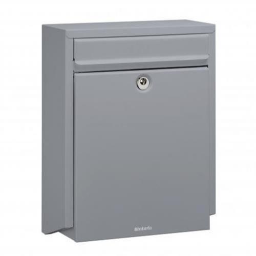 Brabantia B100 Post Box - Silver Grey