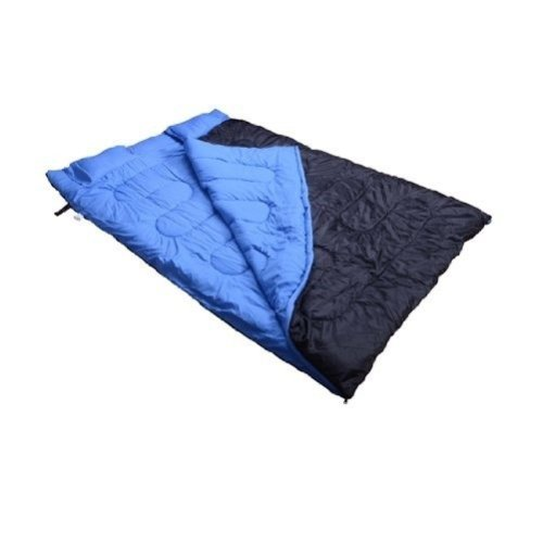 Outsunny Blue & Black Double Sleeping Bag with Pillows