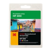 Kodak Remanufactured HP HP300/CC643EE Colour Inkjet Ink, 12ml
