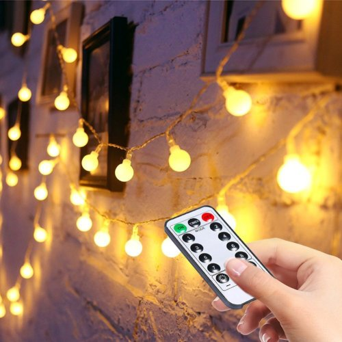 LED Fairy String Lights【 Remote& Timer】16FT 50Leds 8 Modes Battery Operated
