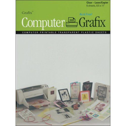 "Grafix Laser/Copier Film 8.5""X11"" 6/Pkg-Clear"