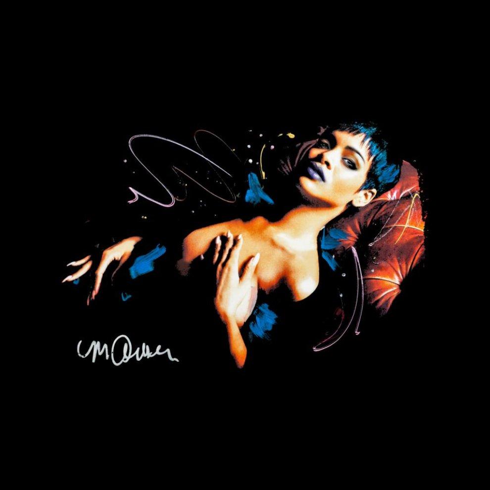 46809034054f ... Sidney Maurer Original Portrait Of Rihanna Nude Men s Varsity Jacket ...