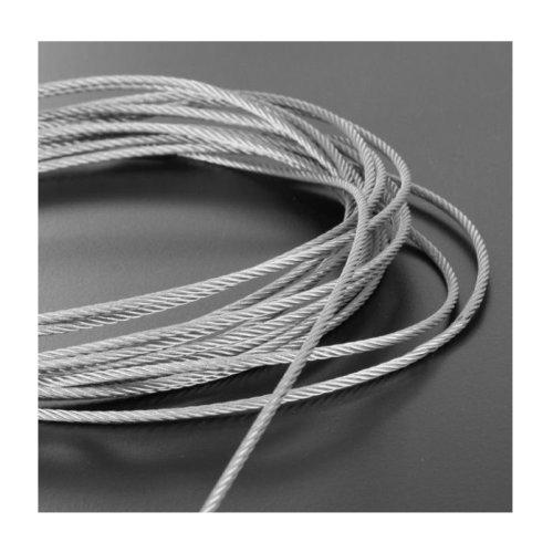 Plastic Coated Steel Wire Rope 3mm x 5 Meters (2mm 1mm Plastic Coating)