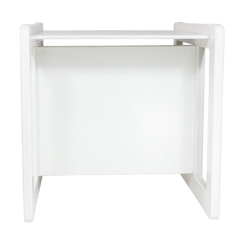 Obique Multifunctional Furniture 1 Table Beech Wood, White