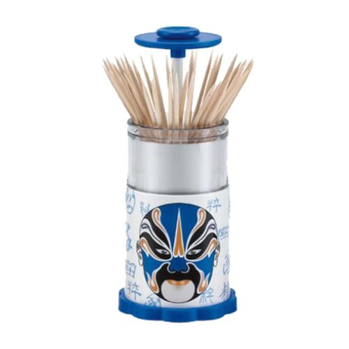 Auspicious Chinese Style Portable Hand Pressure Automatic Toothpick Holder