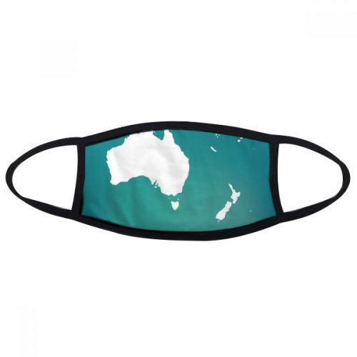 Australia Oceania Continent Silhouette Map Mouth Face Anti-dust Mask Anti Cold Warm Washable Cotton Gift