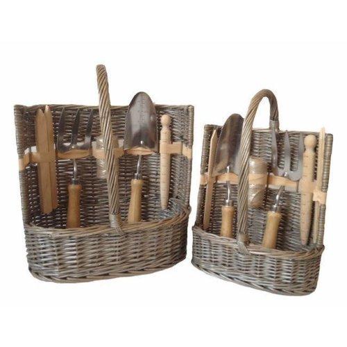 Garden Basket Antique Wash Deluxe Trug Tool Basket
